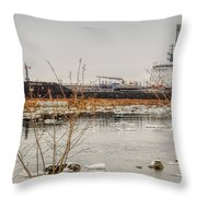 Algoma Hansa Blue Water River Walk Throw Pillow