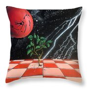 Algomythic Reborn Throw Pillow