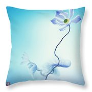 Algorithmic Art - Math Flowers In Blue 3 Throw Pillow