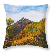 Algund View Throw Pillow
