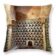 Alhambra Palace Baths Throw Pillow
