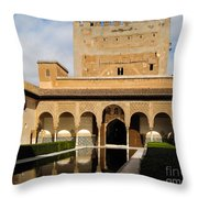 Alhambra Palace Granada Spain Throw Pillow