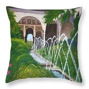 Alhambra Palace Throw Pillow