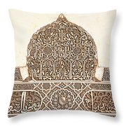 Alhambra Relief Throw Pillow