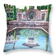 Alhambra Spain Reflections Throw Pillow