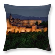 Alhambra Sunset Throw Pillow