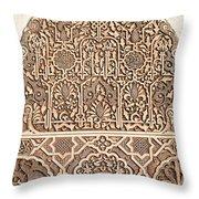 Alhambra Wall Panel Detail Throw Pillow