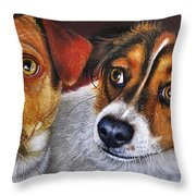 Ali And Ilu Throw Pillow