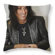 Alice Cooper Happy Throw Pillow