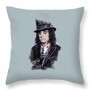 Alice Cooper Throw Pillow