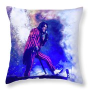Alice Cooper On Stage Throw Pillow