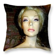 Alice In Alley Throw Pillow