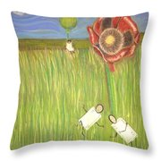 Alice In Oz Throw Pillow