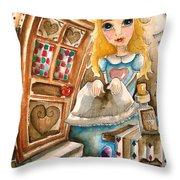 Alice In Wonderland 2 Throw Pillow by Lucia Stewart