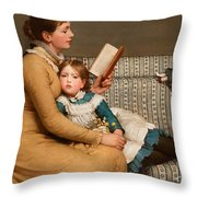 Alice In Wonderland Throw Pillow by George Dunlop Leslie