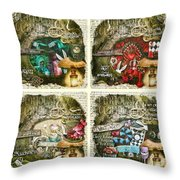Alice Of Wonderland Series Throw Pillow
