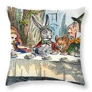 Alices Mad-tea Party, 1865 Throw Pillow