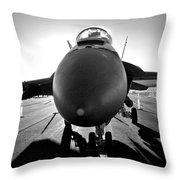 Alien Aircraft Throw Pillow