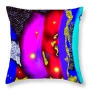 Alien Art Forms Throw Pillow
