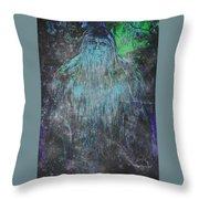 Alien Bigfoot Throw Pillow