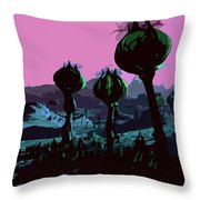 Alien Eden Throw Pillow