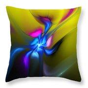 Alien Flower 2 Throw Pillow