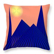 Alien Fortress Throw Pillow