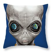 Alien From Space Throw Pillow