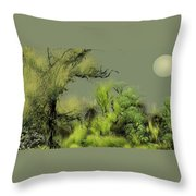 Alien Garden 2 Throw Pillow