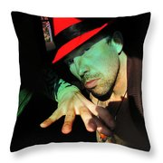 Alien Hat Throw Pillow by John Jr Gholson
