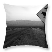 Alien Highway Throw Pillow by David Lee Thompson
