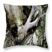 Alien In The Tree Throw Pillow