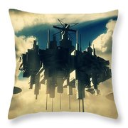 Alien Invasion By Raphael Terra Throw Pillow