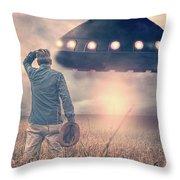 Alien Invasion Throw Pillow