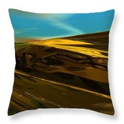 Alien Landscape 2-28-09 Throw Pillow