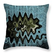 Alien Life Of The Summer Squash Throw Pillow