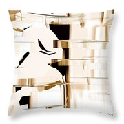 Alien Look Out Throw Pillow