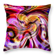 Alien Mind On Fire. Throw Pillow