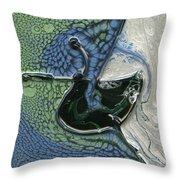 Alien Ocean Sigil Throw Pillow