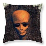 Alien Portrait Throw Pillow