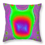 Alien Scream Throw Pillow
