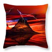 Alien Sunrise Throw Pillow