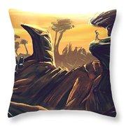 Alien Territory Throw Pillow