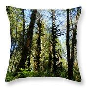 Alien Trees Throw Pillow