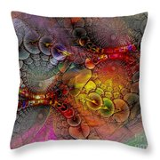 Alien Tundra Throw Pillow