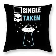 Alien Ufo Single Gift Throw Pillow