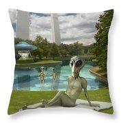Alien Vacation - St. Louis Throw Pillow