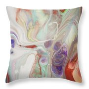 Alien Worlds. Abstract Fluid Acrylic Painting Throw Pillow
