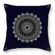 Aliens And The Spaceship Throw Pillow