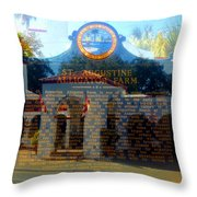 Alligator Farm 1890 Throw Pillow